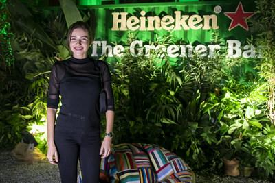 Italian DJ Anfisa Letyago played at the Heineken® Greener Bar in Milan on Friday night to celebrate the start of the weekend's racing action at the Formula 1 Heineken Gran Premio d'Italia 2021.
